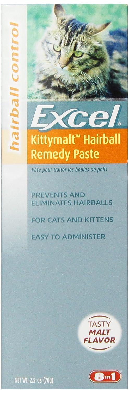 Excel Kittymalt Hairball Remedy, Malt Flavor, 2-1/2-Ounce (M705)