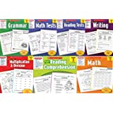 Scholastic Success With - Grade 3 Complete Set (7 books): Multiplication&Division 3, Math 3, Math Tests 3, Grammar 3, Reading