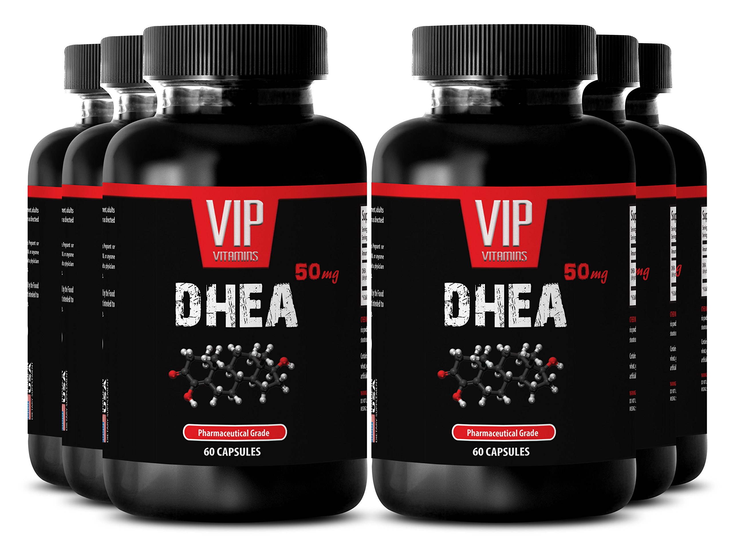 Metabolism booster - DHEA 50 mg - Digestive aid - 6 Bottles 360 Capsules