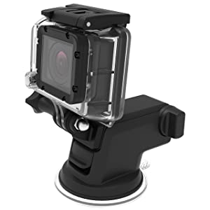 iOttie Easy One Touch GoPro Suction Cup Mount for GoPro Hero 6, Hero 4, Hero 3, Hero 3+, Hero, Session, Silver, Black, White