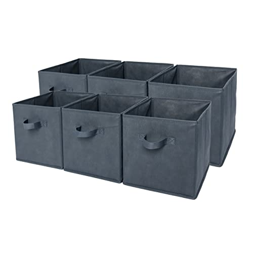 Delicieux Sodynee Foldable Cloth Storage Cube Basket Bins Organizer Containers  Drawers, 6 Pack, Grey