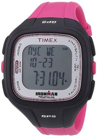 Timex Timex Ironman Easy Trainer GPS T5K753 - Reloj digital de cuarzo unisex, correa de plástico color rosa: Amazon.es: Relojes