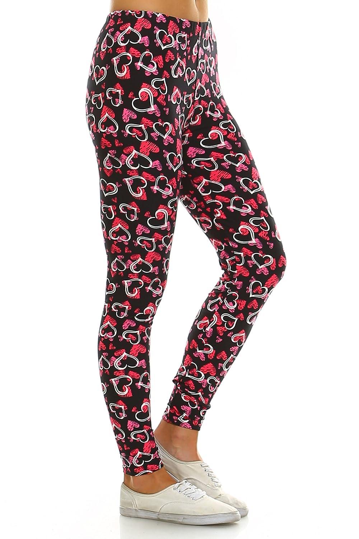 78c785164eb987 Leggings Mania Womens Printed Full Length High Waist Ultra Soft Stretch  Always Leggings at Amazon Women's Clothing store: