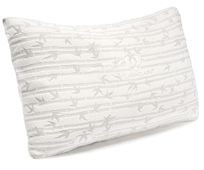 Clara Clark Bamboo Memory Foam Pillow - The Affordable and Easy-Purifying