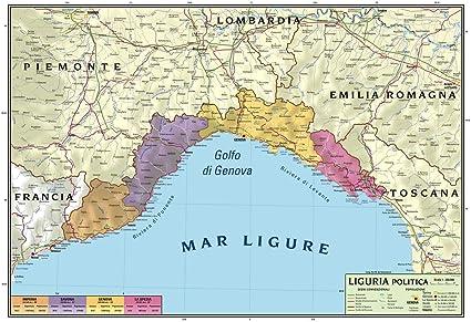 Cartina Fisica E Politica.Carta Geografica Murale Regionale Liguria 100x140 Bifacciale Fisica E Politica Amazon It Cancelleria E Prodotti Per Ufficio