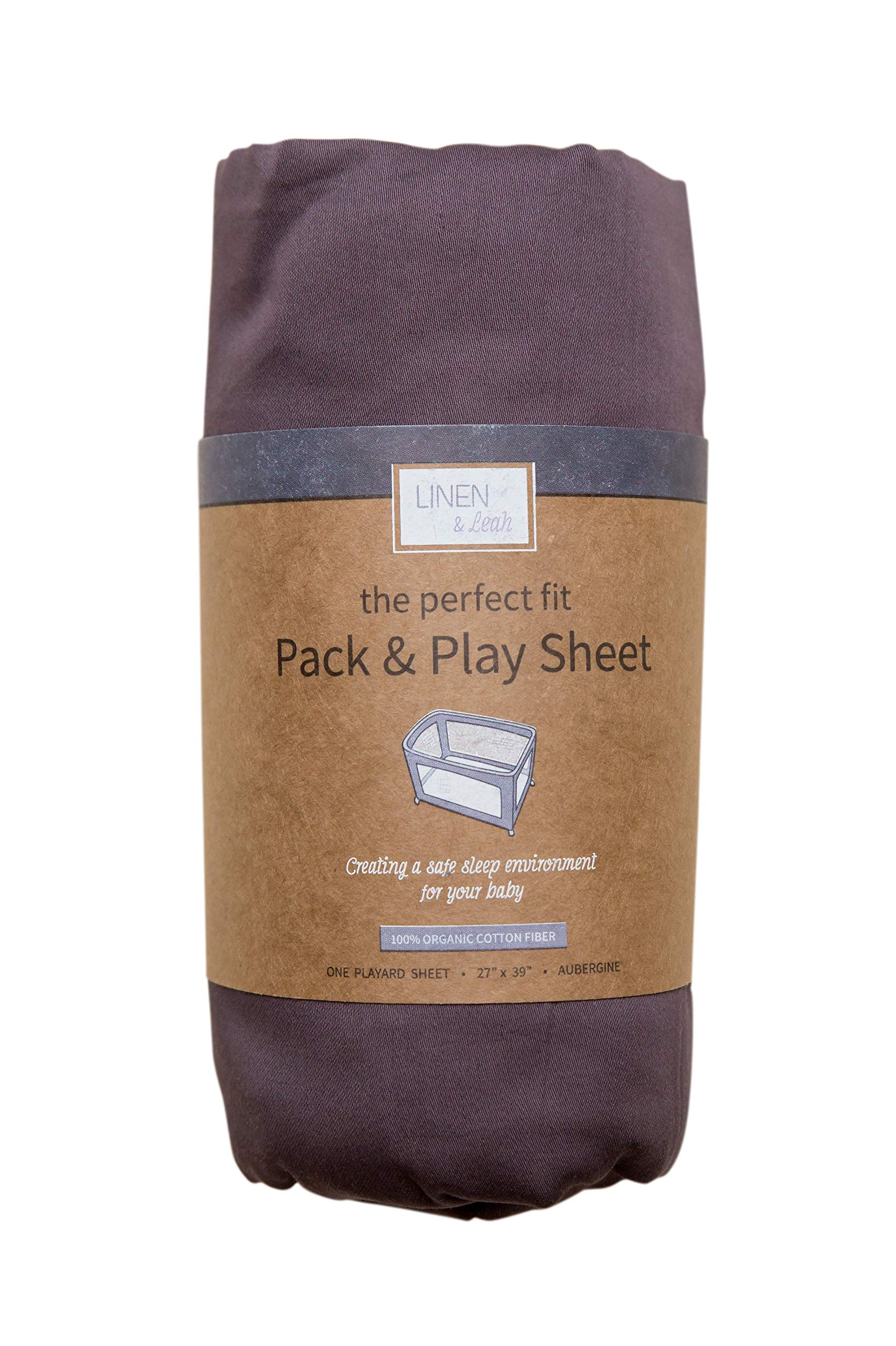 The Perfect Fit Pack & Play Sheet (Aubergine)