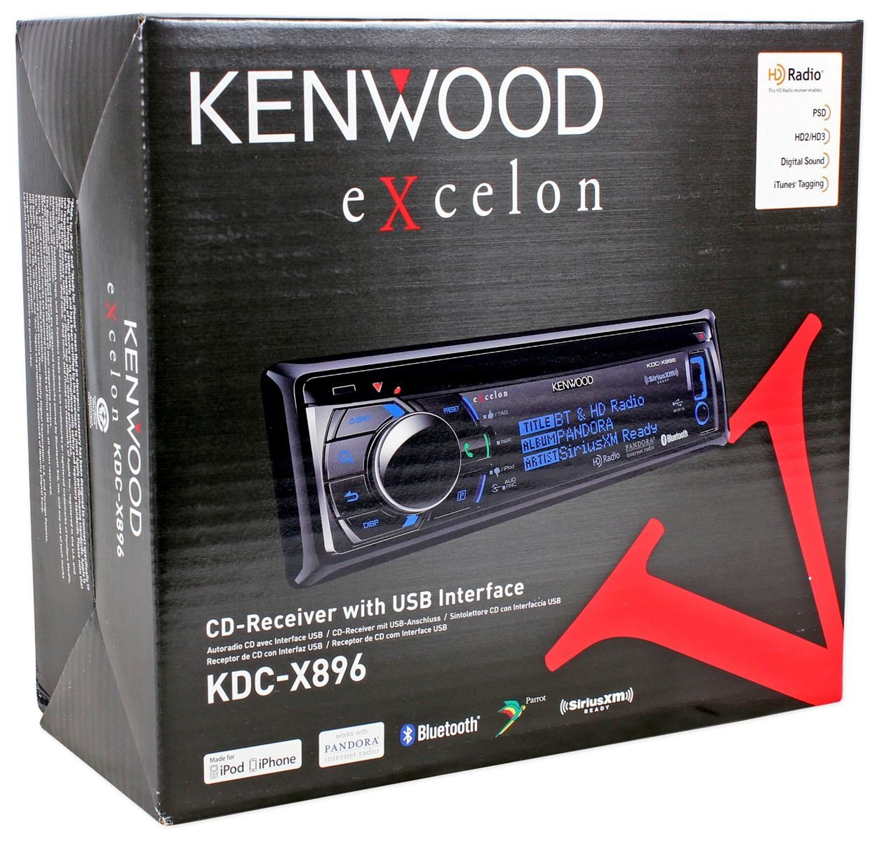 Amazon.com: nd New Kenwood KDC-X896 Single Din In-Dash CD ... on