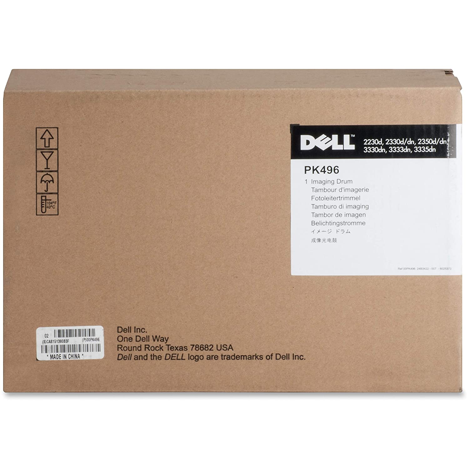 Dell PK496 Imaging Drum Cartridge f/2330 30 000 Page Yield BK