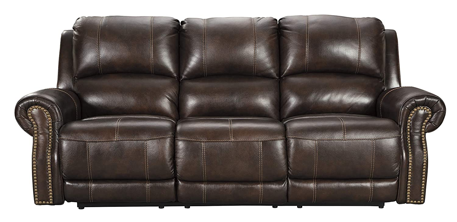 Terrific Signature Design By Ashley U8460415 Buncrana Power Reclining Sofa Chocolate Home Interior And Landscaping Elinuenasavecom