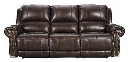 Signature Design by Ashley U8460415 Buncrana Power Reclining Sofa, Chocolate