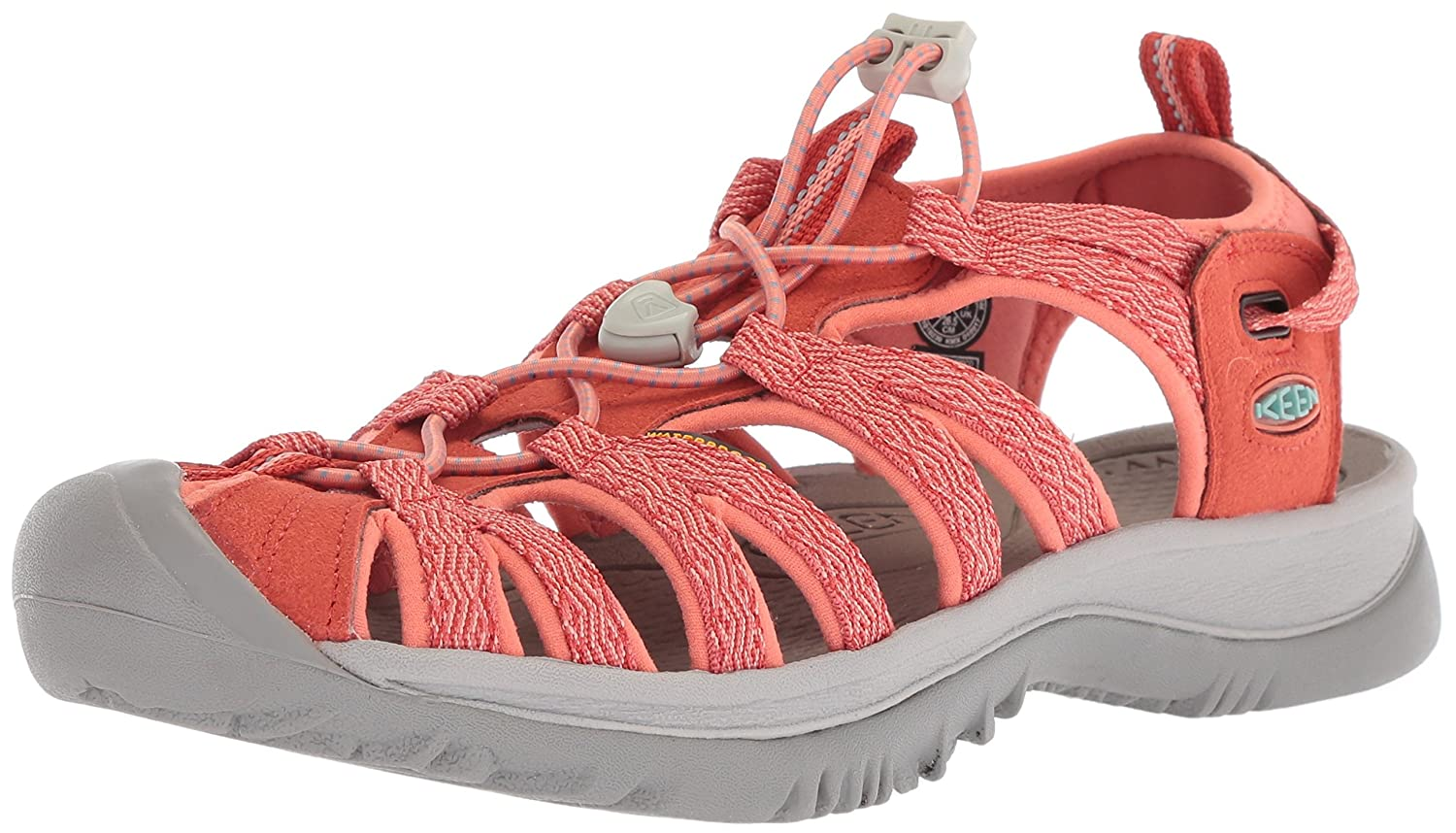 KEEN Women's Whisper-w Sandal B06ZXXH88R 7.5 B(M) US|Summer Fig/Crabapple