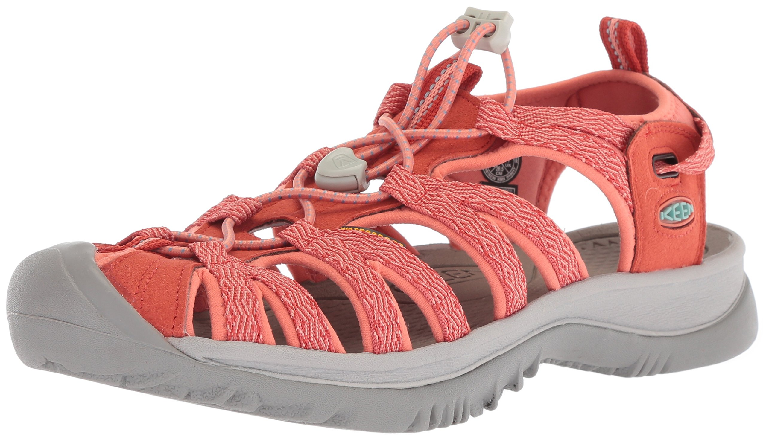 KEEN Women's Whisper-W Sandal, Summer Fig/Crabapple, 10.5 M US