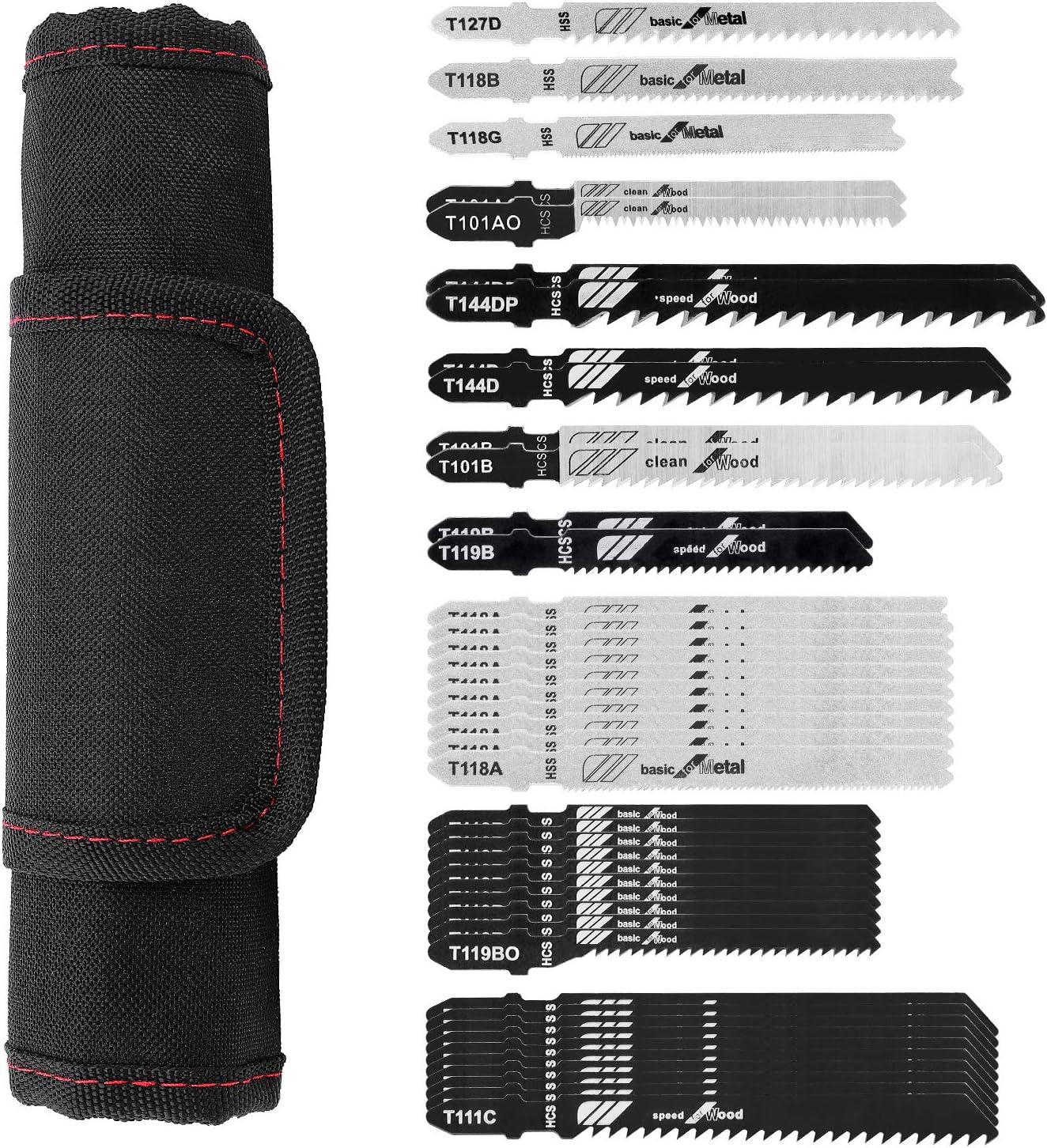 Makita Milwaukee etc Dewalt FIXKIT 43-Piece Jigsaw Blades T101B T111C T144D T144DP T101AO T119BO T119B T118A T127D T118B T118G Mixed Jigsaw Blades Set for Bosch