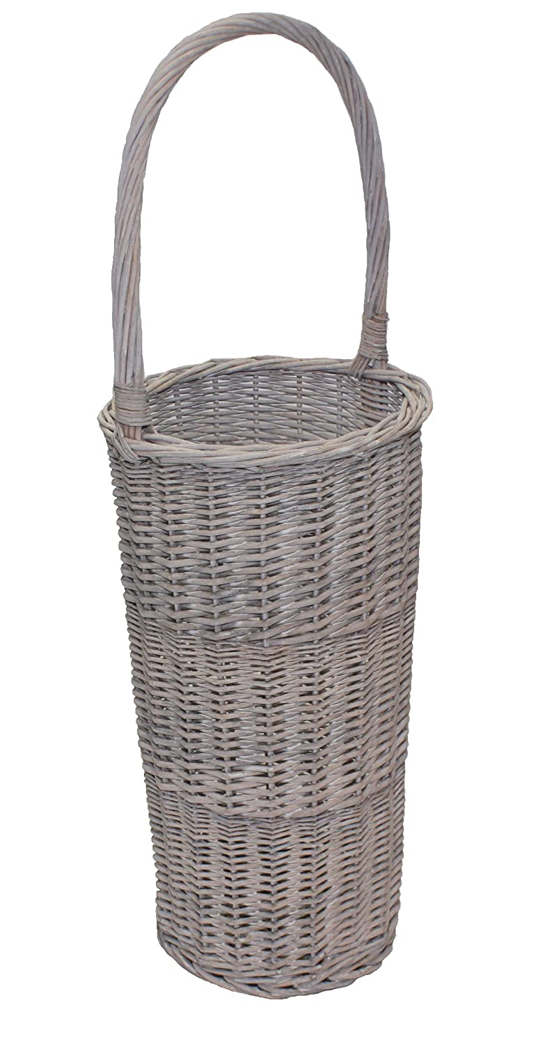 Grey Willow Wicker Tall Round Hallway Umbrella or Walking Stick Basket Choice Baskets