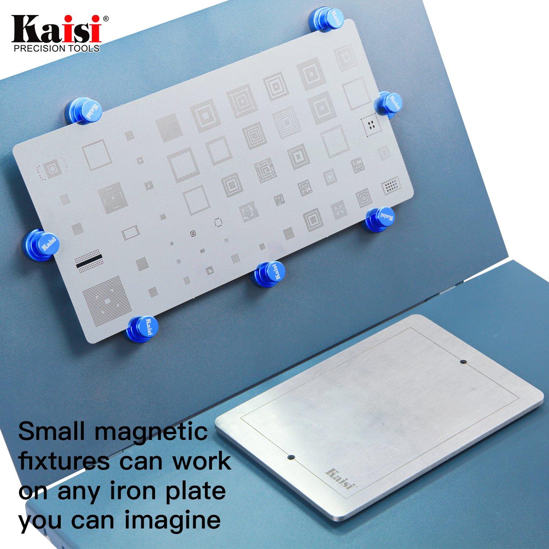 Kaisi Universal Diy Stainless Steel Adjustable Mobile Phone Pcb Metal Circuit Board Holder Repairing Repair Tool For Fixture Soldering Blue