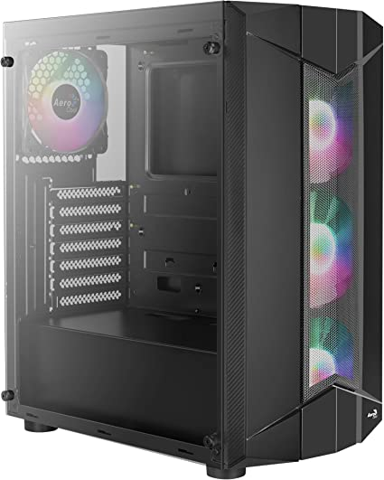 Aerocool SENTINEL, caja de PC ATX, cristal templado, 3 ...
