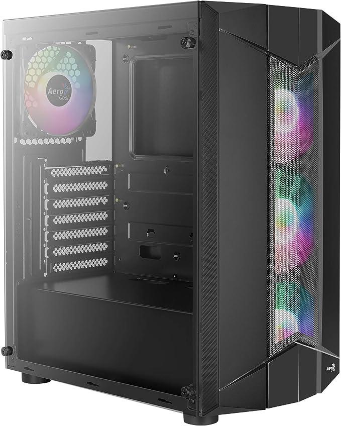 Aerocool SENTINEL, caja de PC ATX, cristal templado, 3 ventiladores RGB 120mm: Amazon.es: Informática