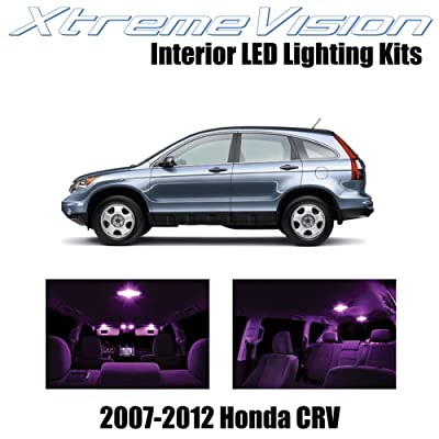 Xtremevision Interior LED for Honda CRV 2007-2012 (6 Pieces) Pink Interior LED Kit + Installation Tool: Automotive