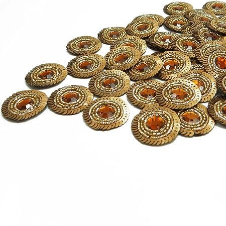 Floral Shape Crafting Appliques Decorative Stone Sewing Accessories 1 Dozen