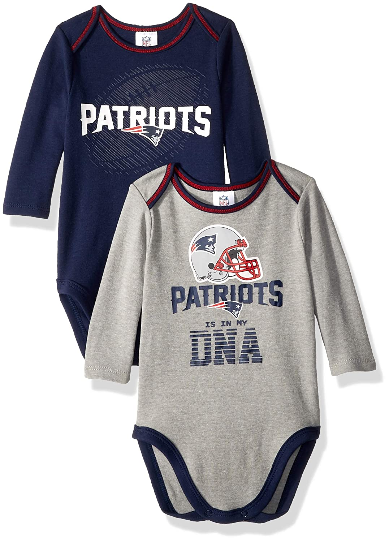 bd083231b Amazon.com   NFL New England Patriots Unisex-Baby 2-Pack Long-Sleeve  Bodysuits