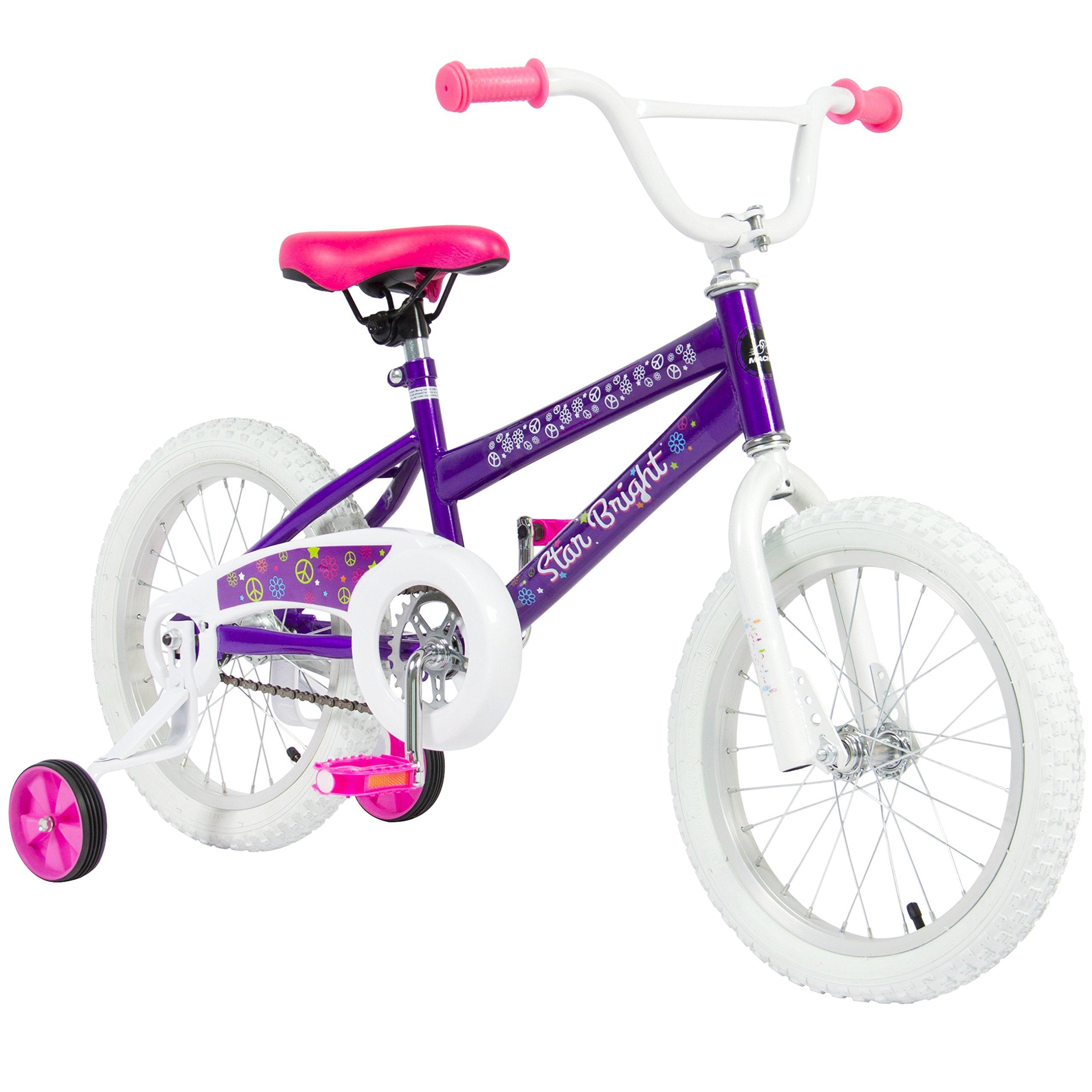BCP 16'' Girl's Purple Princess Bike W/ Training Wheels & Basket Kid's Bicycles