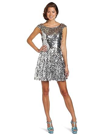 7ce47b9199 Amazon.com  Trixxi Juniors Sequin Skater Dress