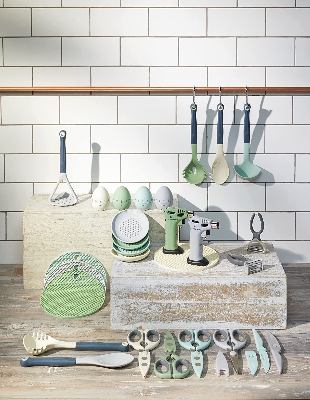 Kitchen Craft Colourworks Multi Schaber//Schneebesen Reiniger Silikon Klassiches Blau 2 x 6 x 28.5 cm