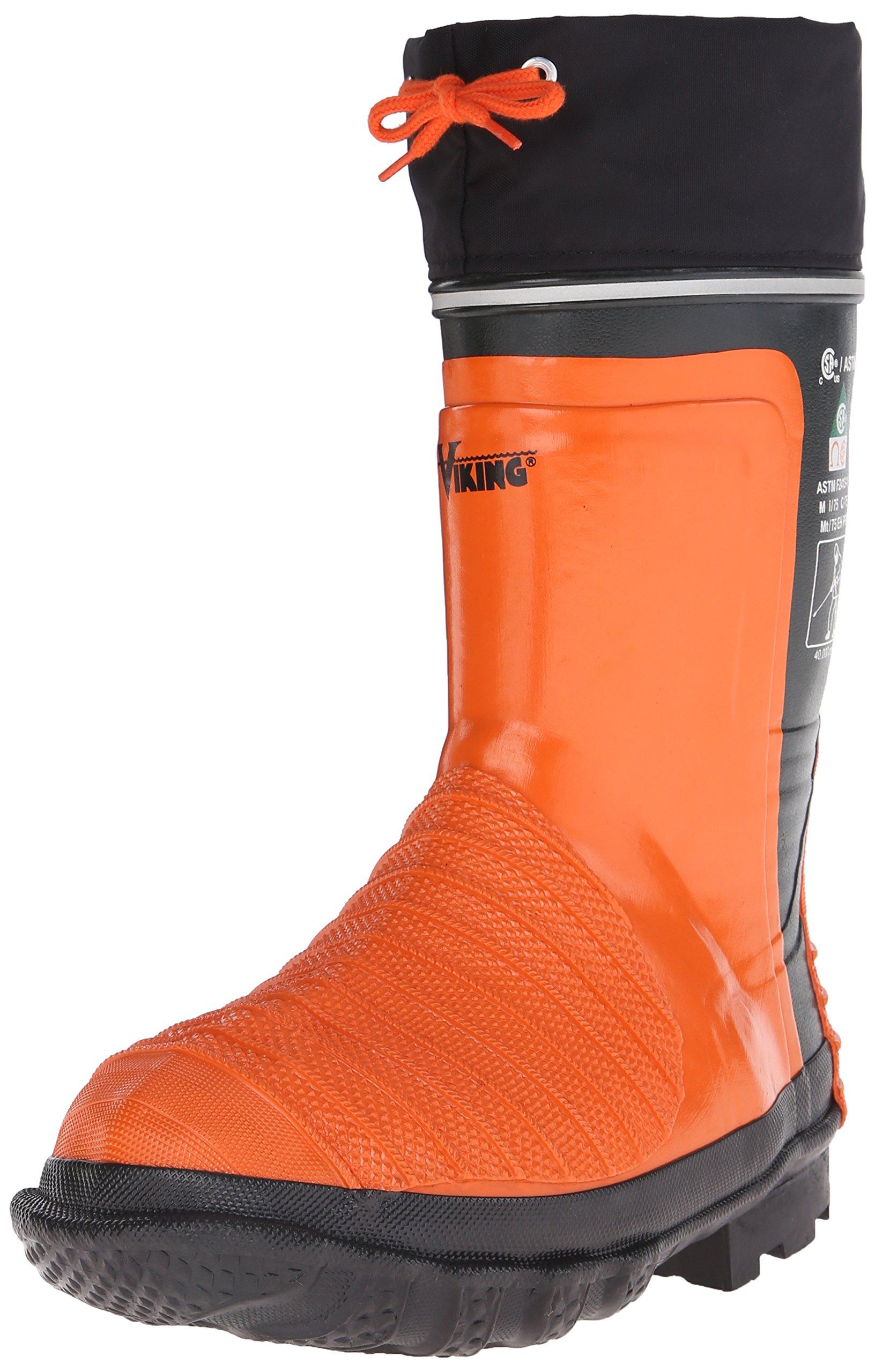 Viking Footwear Water Jet Waterproof Boot, Black/Orange, 11 M US by Viking Footwear