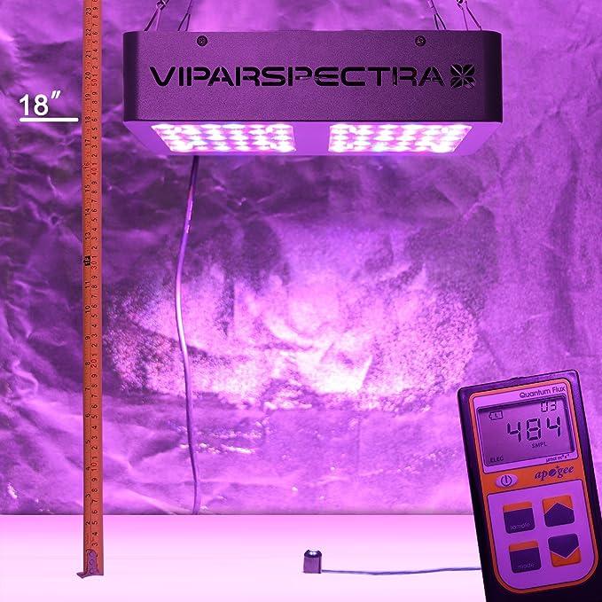 VIPARSPECTRA Reflector - Series 300W LED Lámpara de Espectro Completo para Cultivo Interior de Plantas, Vegetales y Flore: Amazon.es: Jardín