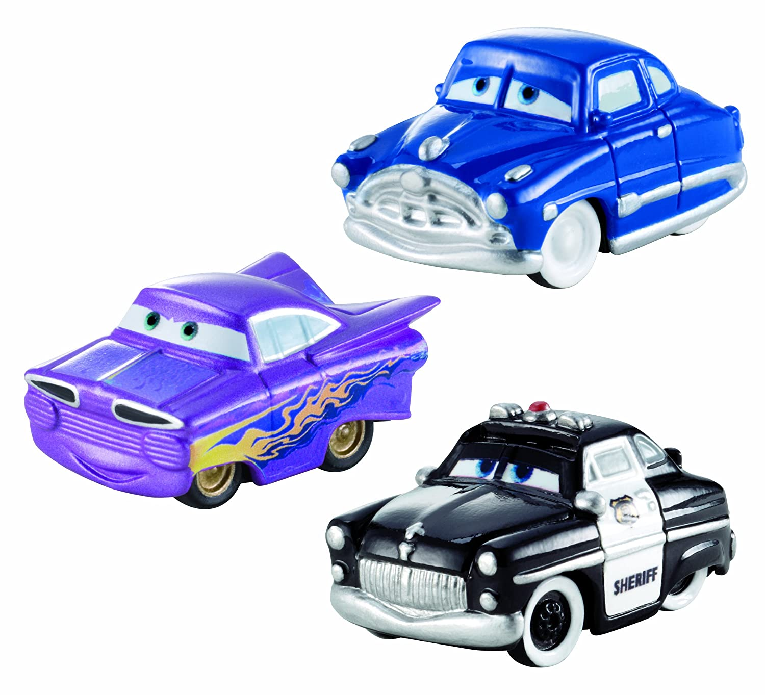 amazon com cars micro drifters doc hudson sheriff and ramone toy