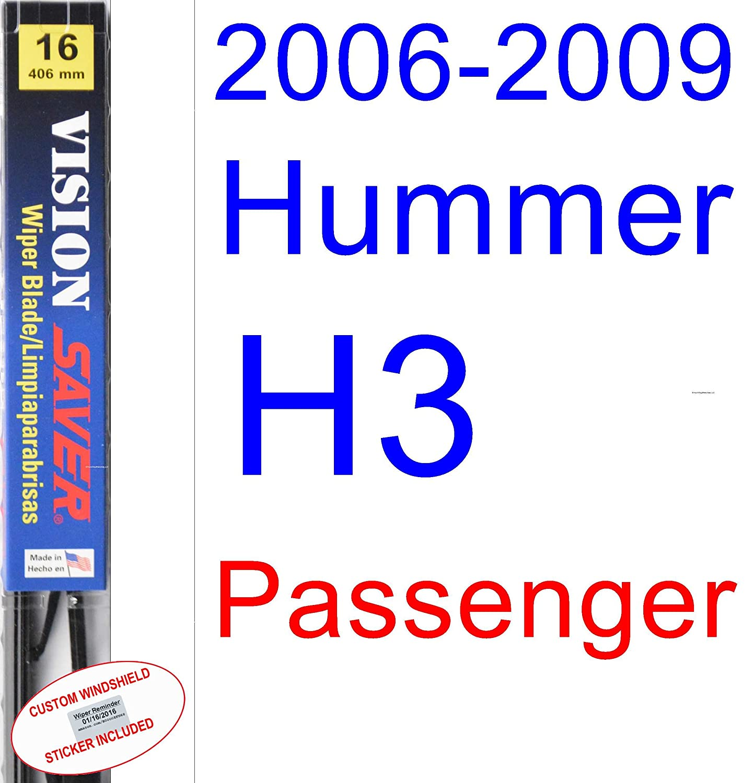Amazon.com: 2006-2009 Hummer H3 Wiper Blade (Rear) (Saver Automotive Products-Vision Saver) (2007,2008): Automotive