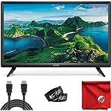 VIZIO D-Series 24-Inch Class 720p HD LED Smart TV (D24H-G9) with Built-in HDMI, USB, SmartCast, Voice Control Bundle with Cir