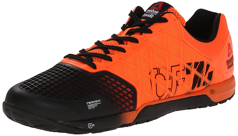 reebok crossfit shoes mens. amazon.com | reebok men\u0027s r crossfit nano 4.0 solar training shoe, orange/black, 8 m us fitness \u0026 cross-training shoes mens