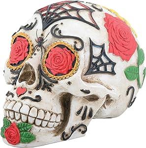 YTC Day of The Dead DOD Tattoo Sugar Skull Head Display Decoration