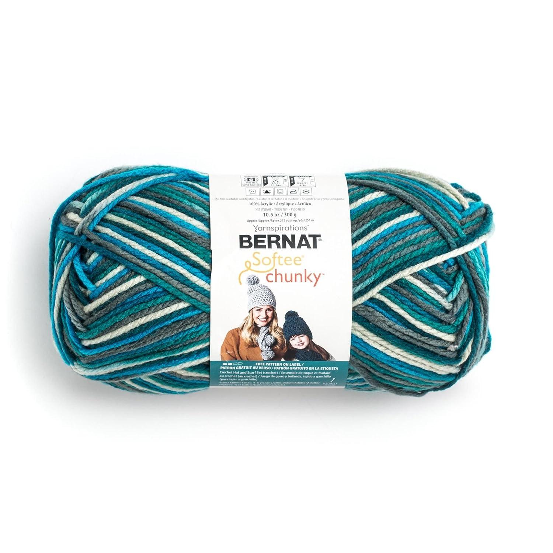 Amazon.com: Bernat Big Ball Chunky Ombre Yarn - (6) Super Bulky ...