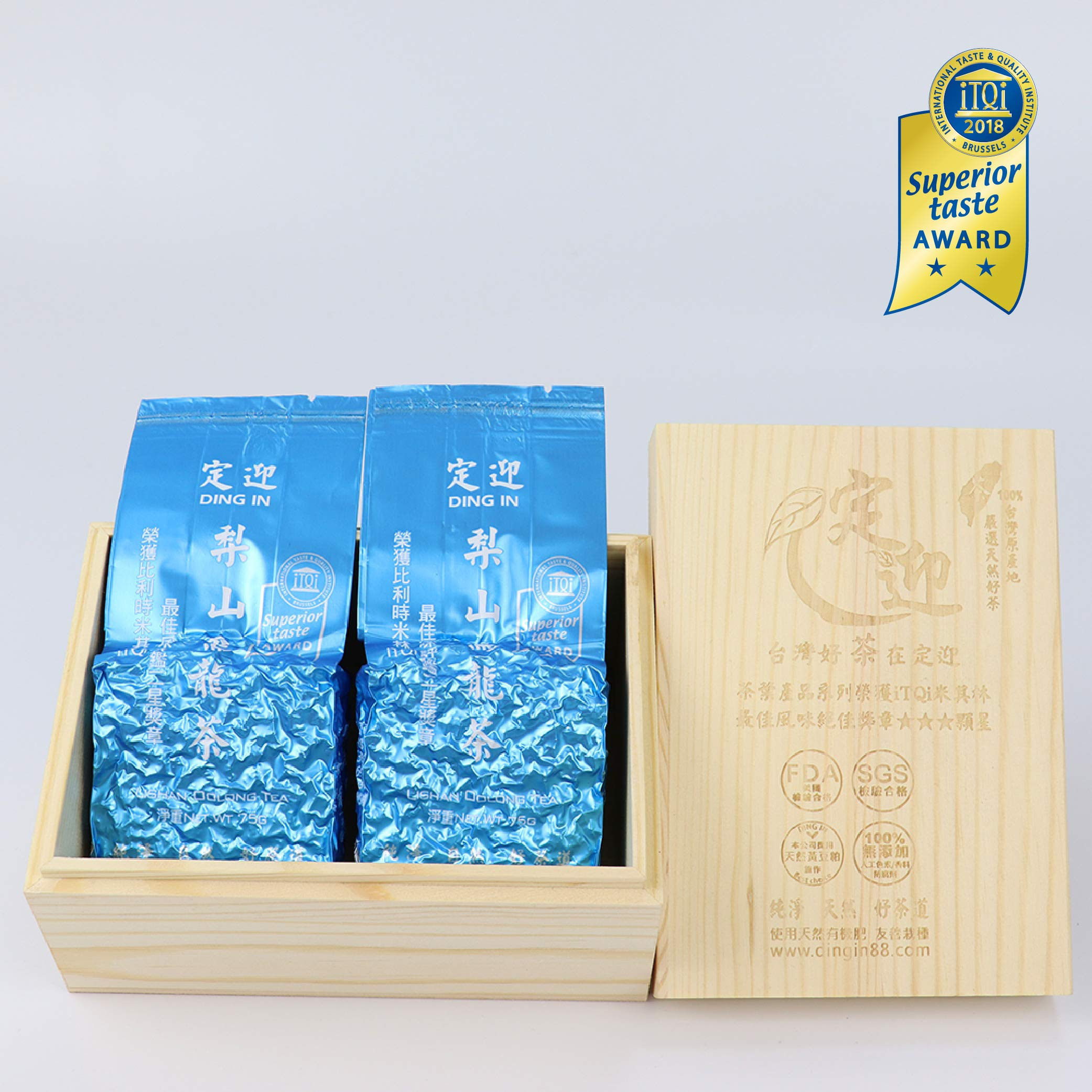 DING IN Lishan Oolong Tea Pine Box 75g2/box by Ding In ltd. (Image #1)