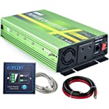 EDECOA 1000W Power Inverter Pure Sine Wave DC 12V to 240V AC Converter with Remote Controller