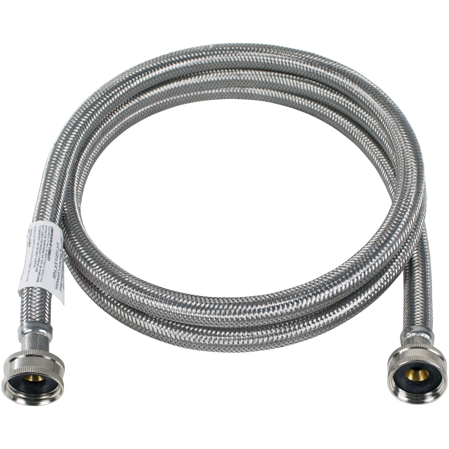Certified Appliance Accessories WM72SS Braided Stainless Steel Washing Machine Connector, 6'