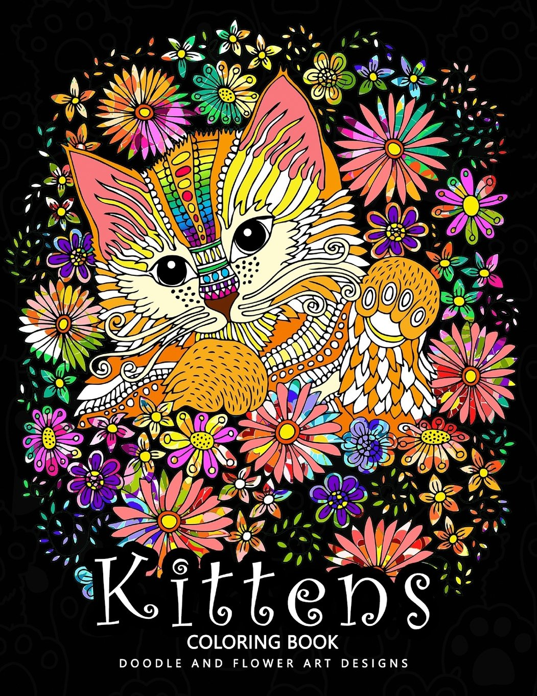 Kittens Coloring Book  Cat Stress Relief Coloring Book For Grown Ups