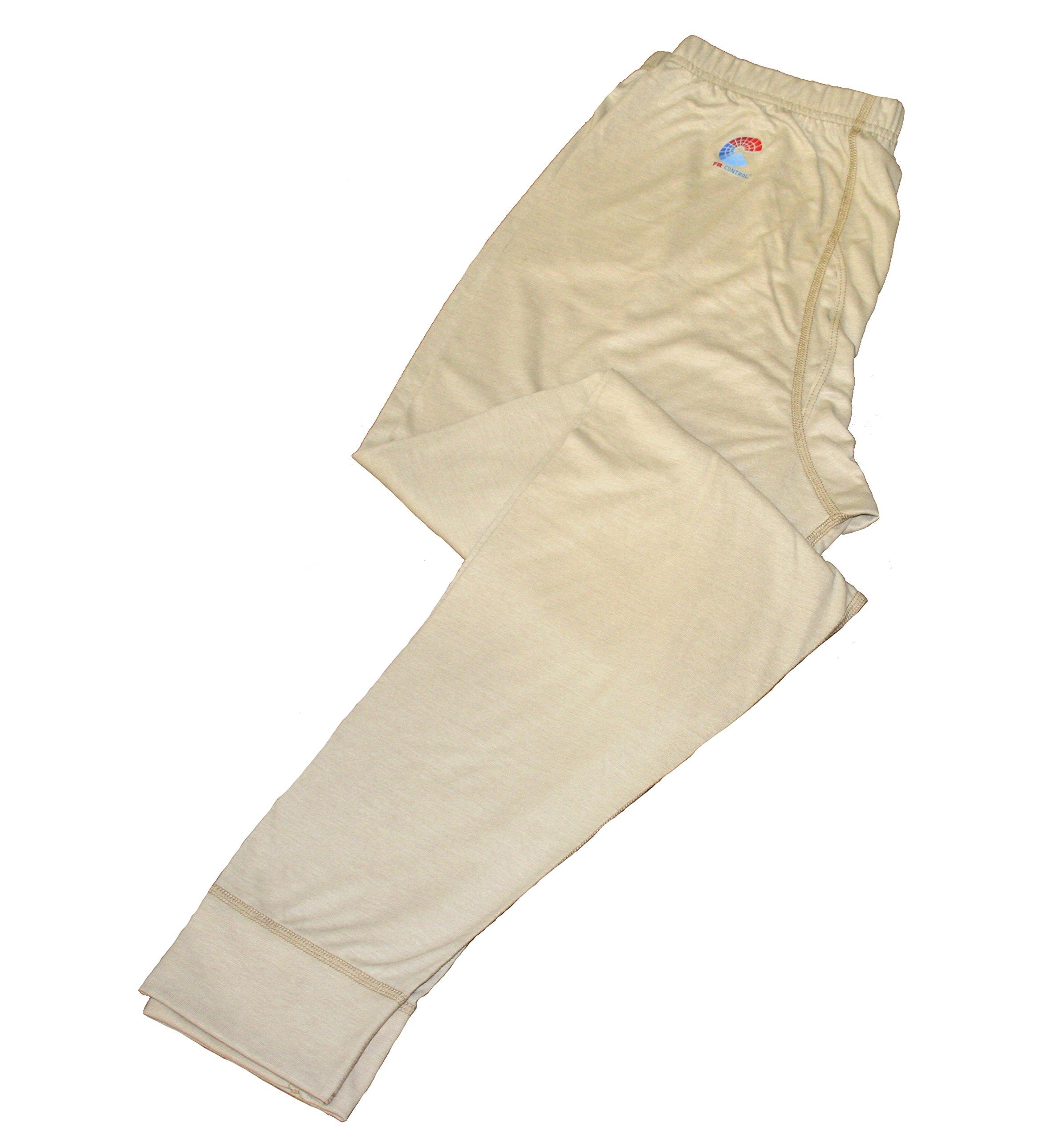National Safety Apparel U51FRSRLG FR Control Long Underwear Pants, Large, Khaki