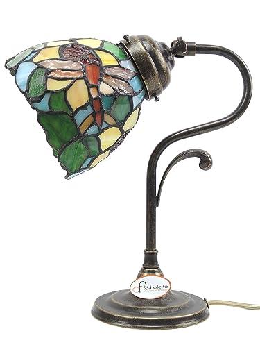 Lámpara latón bruñido de mesa, escritorio, lámparas mesilla estilo ...