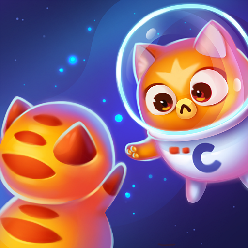Space Cat Evolution: Cheerful Kitty collecting in Craze galaxy