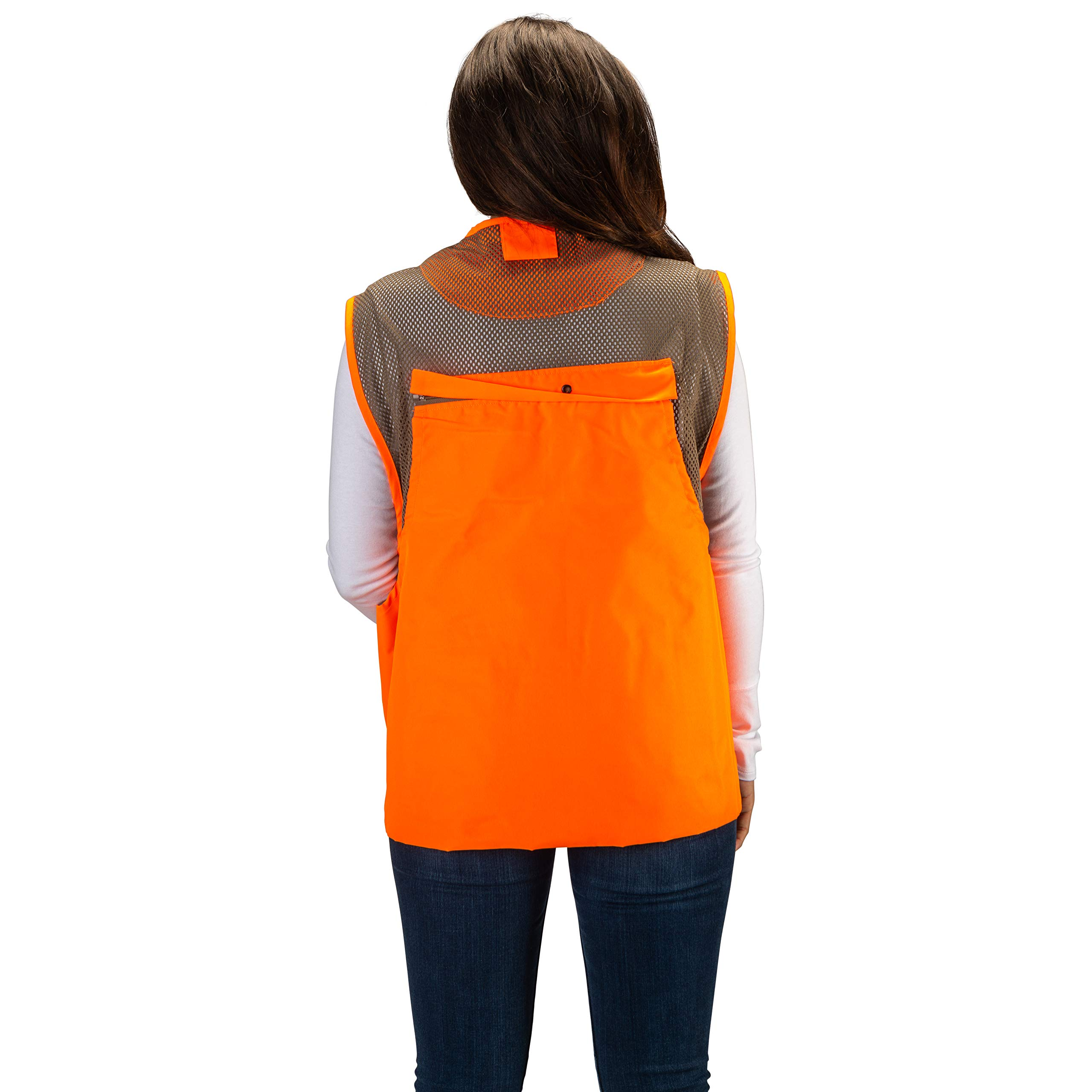 TrailCrest Mens Blaze Orange Safety Deluxe Front Loader Vest, 3X by TrailCrest (Image #4)