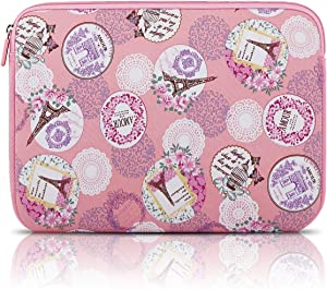Arvok 13-14 Inch Laptop Sleeve Multi-Color & Size Choices Case/Water-Resistant Neoprene Notebook Computer Pocket Tablet Carrying Bag Cover, Romantic Pink