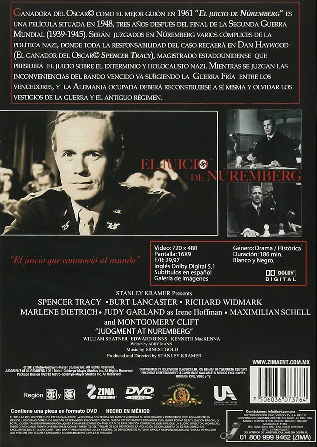 Amazon.com: El Juicio de Nuremberg (Judgement at Nuremberg) [*Ntsc/region 1 & 4 Dvd. Import-latin America - Mexico]: Spencer Tracy, Burt Lancaste, ...