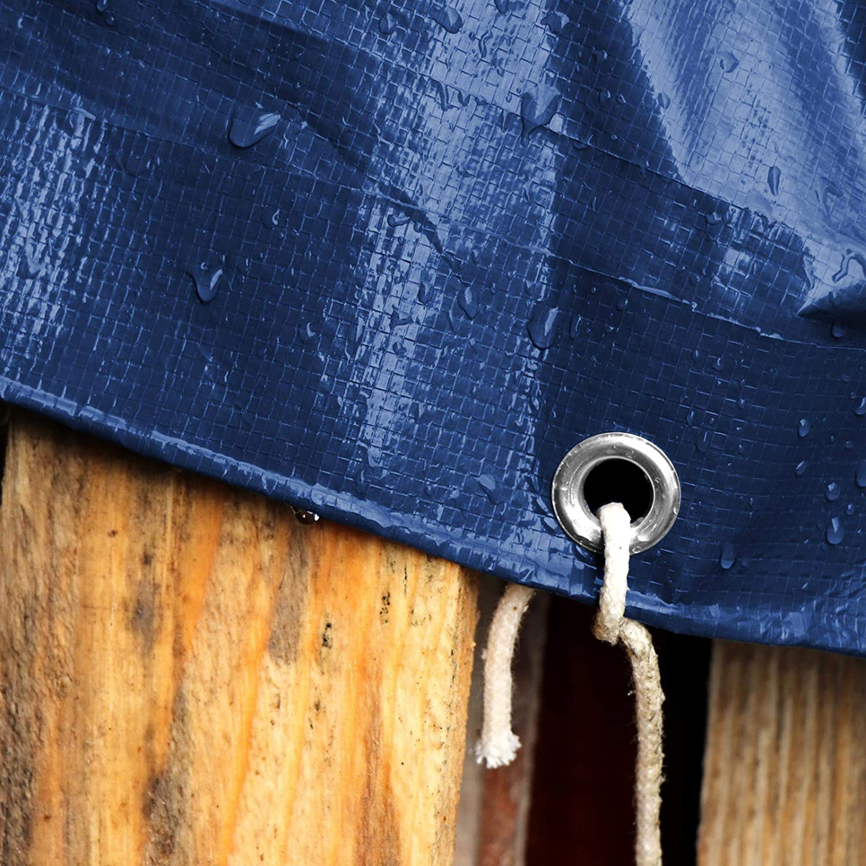 env 4x6m B/âche de protection casa pura/® en poly/éthyl/ène Bache renforc/ée haute densit/é 240g//m/² 100/% imperm/éable /à leau et aux UV Argent/é