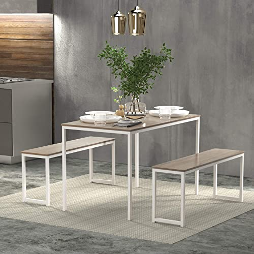 FLASHTK 3 Pieces Dining Table Set,Kitchen Table