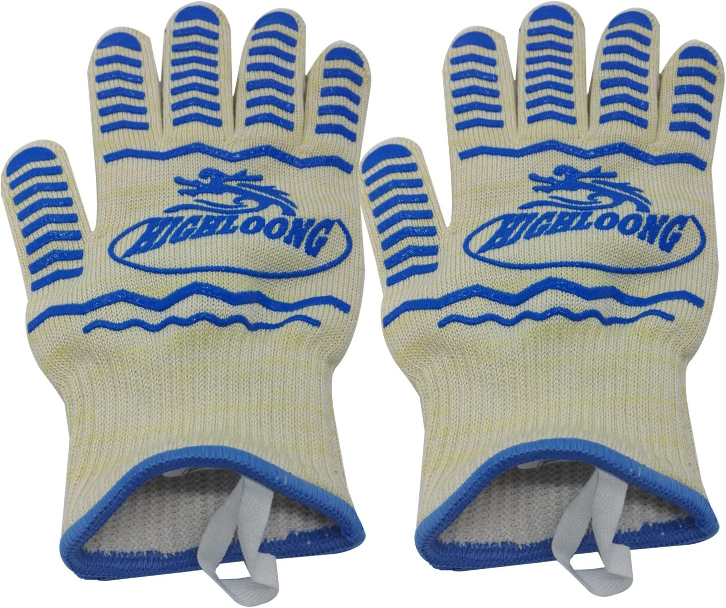 Details about  /1 Pair Gloves Polyester Heat Resistant Kitchen Oven Cooking Flame Glove Washable