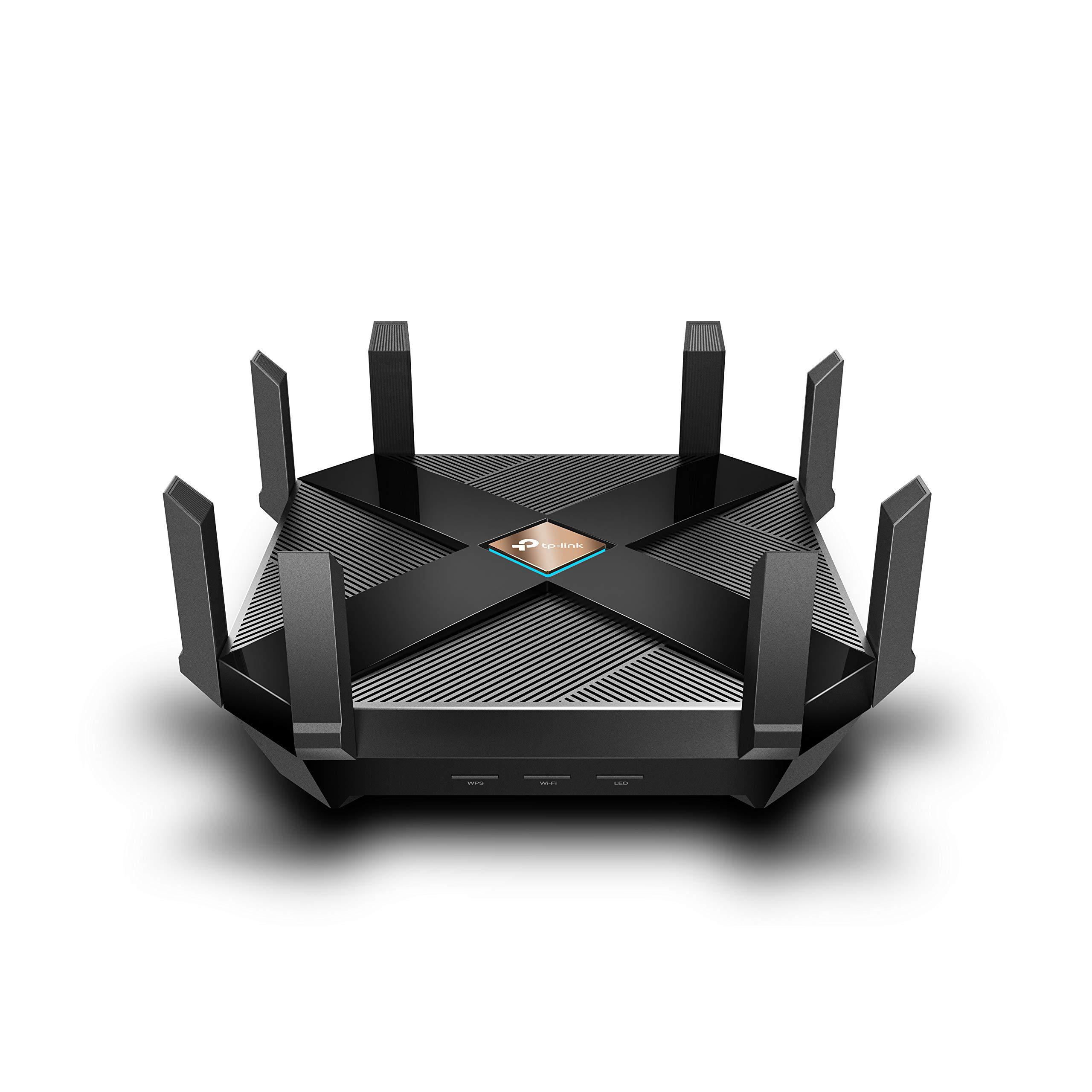 TP-Link WiFi 6 AX6000 8-Stream Smart WiFi Router - Next-Gen 802.11ax, 2.5G WAN Port, 8 Gigabit LAN Ports, MU-MIMO, 1.8GHz Quad-Core CPU, USB 3.0 Ports, Homecare Support(Archer AX6000)