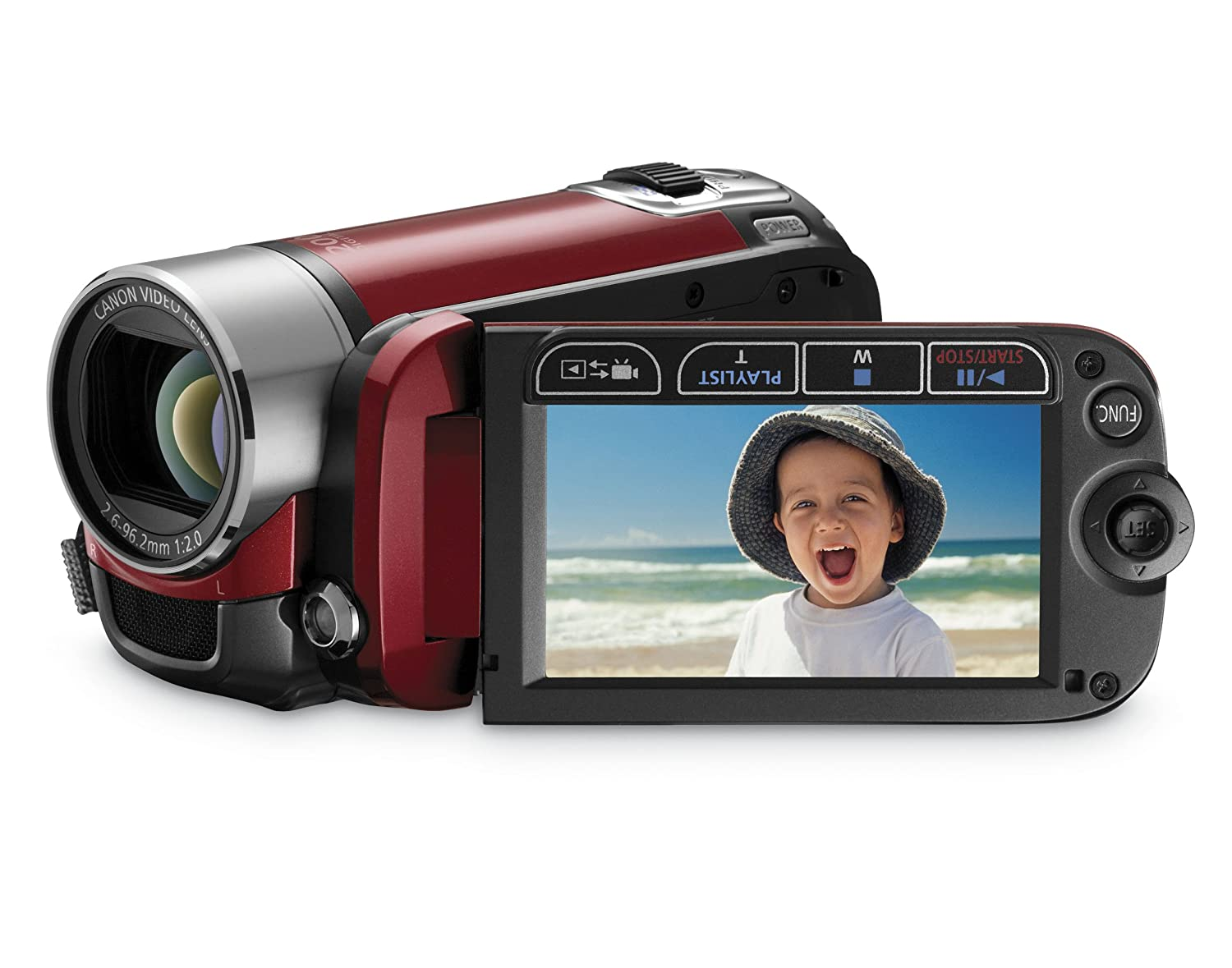 Canon FS200 Flash Memory Camcorder with 37x Optical Zoom (Sunrise Red):  Amazon.ca: Camera & Photo